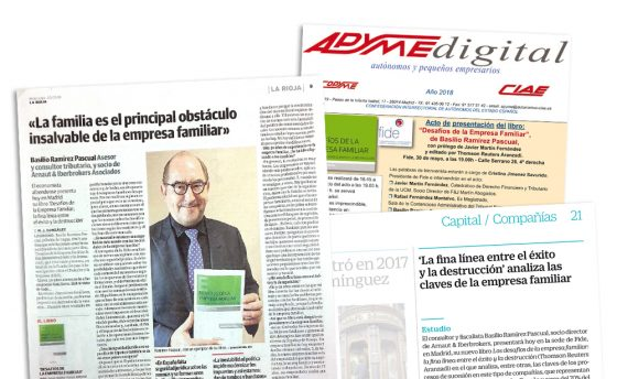 La presentación del libro 'Desafíos en la empresa familiar' se refleja en prensa