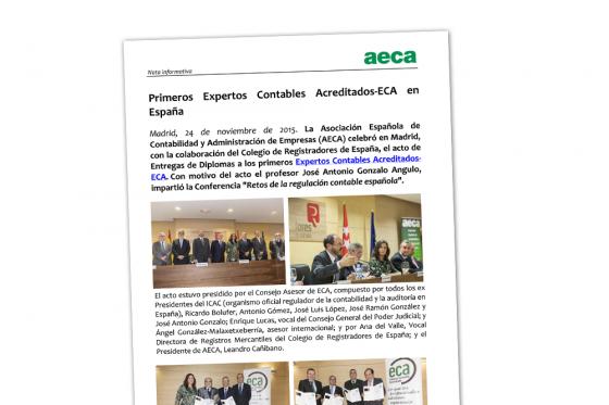Primeros Expertos Contables Acreditados-ECA en España