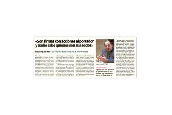 Basilio Ramírez, en Diario La Rioja