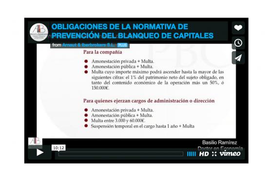 Normativa de Prevención del Blanqueo de Capitales