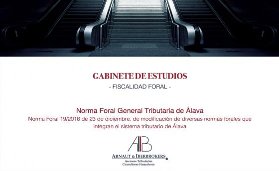 Reforma Norma Foral General Tributaria de Álava
