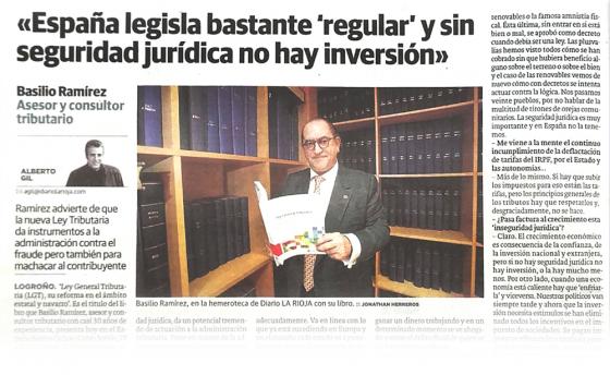 Presentación y entrevista 'Ley General Tributaria y su reforma'