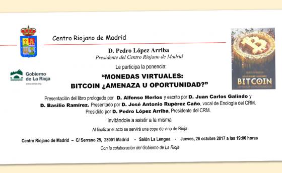Presentación del libro 'Bitcoin ¿Amenaza u oportunidad?'