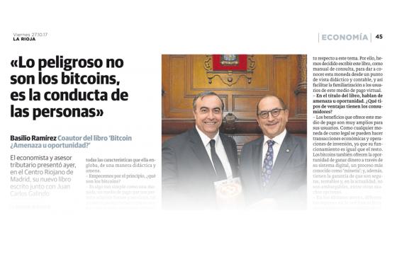 """Presentación del Libro """"Bitcoin ¿Amenaza u Oportunidad? el pasado 26 de Octubre de 2017 en Madrid"""
