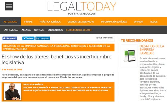 El show de los títeres: beneficios vs incertidumbre legislativa