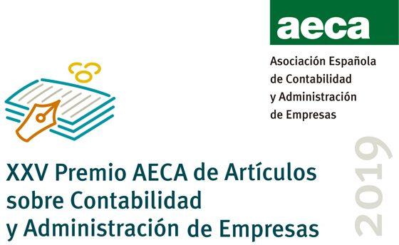 XXV Premio AECA de Artículos sobre Contabilidad y Administración de Empresas 2019