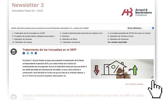 Nueva publicación del boletín 'Actualidad Fiscal' de Arnaut Iberbrokers