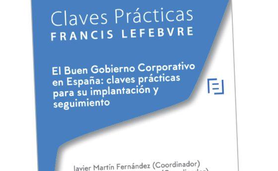 Lanzamiento del nuevo libro 'Buen Gobierno Corporativo en España: claves prácticas para su implantación y seguimiento'