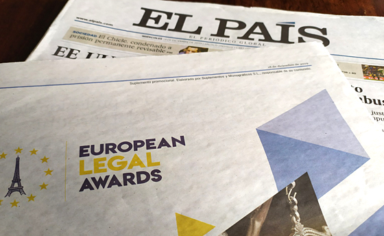Publicado en El País el Premio European Legal Awards 2019 a Basilio Ramírez Pascual