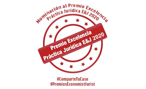 Nominación a los Premios Excelencia en la práctica jurídica 2020 Economist & Jurist